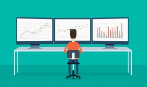 37450212 - business people on monitor report graph and seo on web